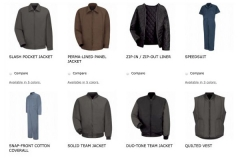 Jacket And Coverall Display Image For Independent Uniform Rental Supplier In NJ - Prime Uniform Supply