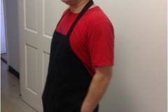 Side Photo Of Black Kitchen Staff Apron From Uniform Rental Company In NJ - Prime Uniform Supply