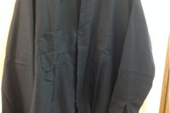Long Sleeve Black Men's Work Shirt Picture At Uniform Rental Company Office In NJ - Prime Uniform Supply